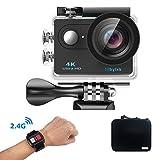 Mbylxk Action Kamera 4K, 2.0 Zoll Eingebautes Wifi Action Kamera Wasserdicht 30M, 2.4G Remote Auto Recorder und kostenlose Accessoires (Grau)