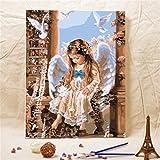 Godess4 DIY Ölgemälde, Digitale Malerei Suite - Engel 16 * 20 Zoll (40 * 50 cm) Füllen Sie Ihre Eigene handgemalte Digitale Ölgemälde dekorieren.