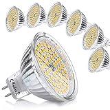Liqoo 6er GU5.3 LED Warmweiß MR16 12V 5W Ersatz für 35W Halogen Lampen GU5.3 2800K 400 Lumen Birne Leuchtmittel 120°Abstrahwinkel Spot Nicht Dimmbar Ø50x 48 mm