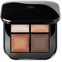 KIKO MILANO - Paleta con cuatro sombras de ojos cocidas brillantes para uso en seco y