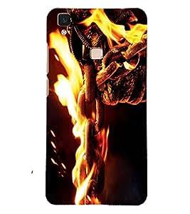PRINTSOPPII FIRE Back Case Cover for Vivo V3 Max