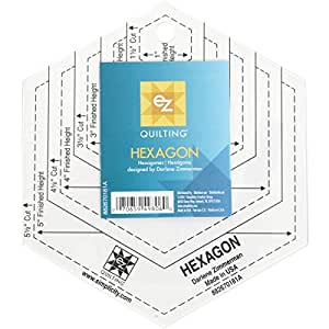 EZ Quilting Hexagon Shapes Acrylic Template