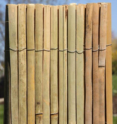 5m x 1,5m Bambusmatte Bambus-Sichtschutzmatte Zaun- Sichtschutz Matte geschnitten -