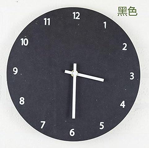 Sucastle Horloge murale de mode, horloge murale simple, horloge murale de restaurant, horloge murale de chambre, horloge murale silencieuse, horloge murale créative 26*26CM