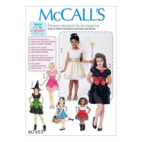 Unbekannt McCall 's Mädchen Easy Learn To Sew Schnittmuster 7453Fee, Hexe, Pirat & Angel ()