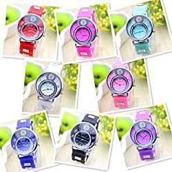8 colors Ladies Watch Classic Gel Crystal Silicone Jelly geneva watch