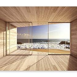 murando Photo Wallpaper 350x256 cm Non-woven Premium Art Print Fleece Wall Mural Decoration Poster Picture Design Modern Sea Ocean Waves Seashore Landscape c-A-0084-a-d