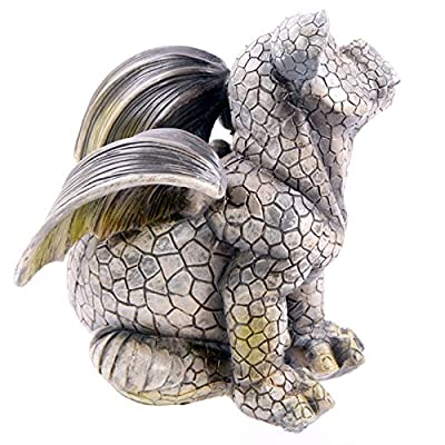 Dragon Garden Ornament Sitting Scratching Ear
