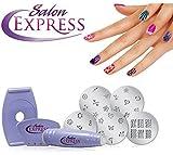 #6: divinext Salon Nail Art Express Decals Stamp Stamping Polish Design Kit Set Decoration
