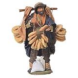 Mann mit Taralli 14cm neapolitanische Krippe