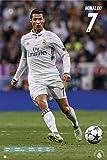 REINDERS Poster Cristiano Ronaldo Fußball Saison 2016/2017 - Football Real Madrid - Bild maxi groß 91,5 x 61 cm