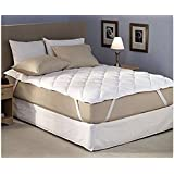 Tag Products Mattress Protector-King Size(78X72Inches)-3 Layered Protector/Bed Cover-White Cotton Finish-Quilted