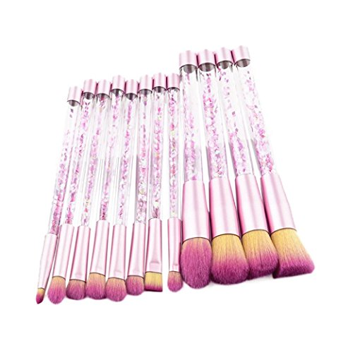 fat. chot 12 Stück Professionelle Make Up Pinsel Set Bling Bling Synthetik Foundation Concealer...