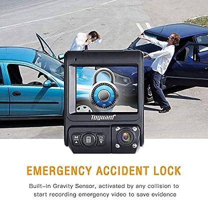 TOGUARD-Dashcam-Full-HD-Dual-1080P-Autokamera-Video-Recorder-mit-Infrarot-Nachtsicht-Front-und-Rck-Auto-Dash-Cam-330Weitwinkelobjektiv-WDR-Bewegungserkennung-Loop-Aufnahme-und-G-Sensor