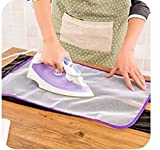 #1: Fenfang clothing Ironing Cloth, Ironing Pad Protective Insulation Scorch Mesh Cloth- (Pack of 2)