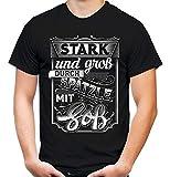 Spätzle & Soß Männer und Herren T-Shirt | Schwaben Stuttgart Essen Allgäu (XL, Schwarz)