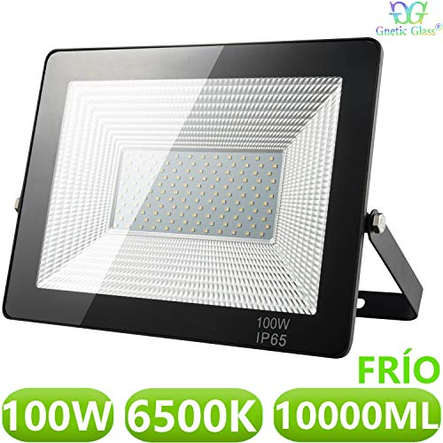 Foco LED exterior Floodlight 100W GNETIC GLASS Proyector Impermeable IP65 10000LM Color...