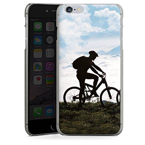 Apple iPhone X Silikon Hülle Case Schutzhülle Fahrrad Mountainbike Natur Hard Case anthrazit-klar