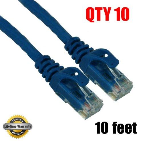 imbaprice 10Pack) CAT6Snagless Ethernet Kabel schwarz (Kabel Premium Snagless Patch Cat6)