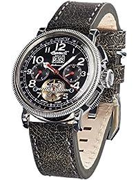 Ingersoll Herren-Armbanduhr Princeton Chronograph Automatik Leder IN1827BKCR