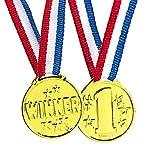 12 Stück Golden Medaillen für Kinder Gewinner Preise | Gold Medaille als Preis für Sport Geburtstag Party Spiele | Siegermedaillen für Wettbewerbe Kinderfeste Spielzeuge | Sieger Goldmedaille Stern