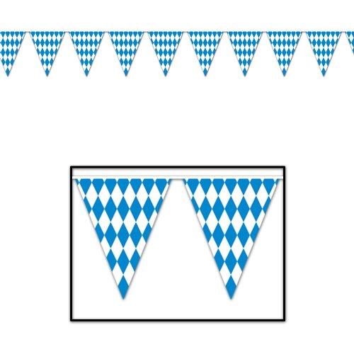 Beistle - 50970 - Oktoberfest Wimpel Banner-Packung mit 12 St-ck