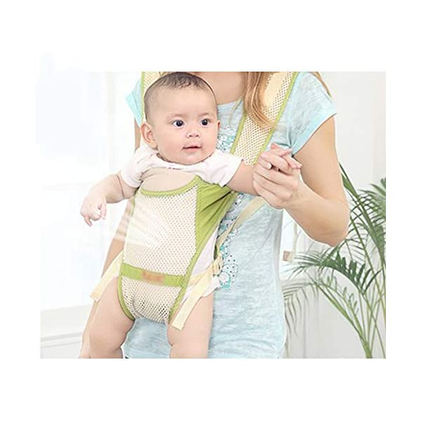 Baby Sling Baby Hip Seat Front Hug Single Stool Four Seasons Universal Baby Seat Stool Child Multifunctional Holding Stool GABESY Ergonomic cutting method, fully consider the skeletal development characteristics of children. The 3d cellular network is fully hollowed out, and the high-elastic screen is cool and breathable. Lightweight and comfortable, easy to carry, baby is safer, mother is more assured. 5
