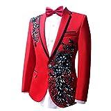 Judi Dench@ Matrimonio giacca modello maschile giacche smoking del partito di promenade uomo Blazer, Taglia M, rosso