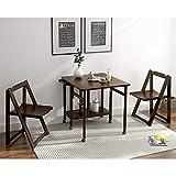 Nclon Massivholz Multifunktion Esstisch Sessel Kombination,Entfernbar Zusammenklappbar Skalierbar Für Kleine Familie Schlafzimmer-Braun