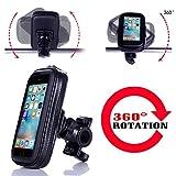 Handyhalterung Fahrrad , Ubegood Motorrad-Halterung [360° drehbar] Handyhalter Fahrrad Tasche mit wasserdichte für iPhone SE/6S/6/5S andere bis zu 4,7 Zoll Smartphone -