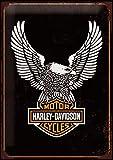 25,4x 20,3cm retro Harley Davidson 10, metal Sign stampato su alluminio spazzolato in a colori