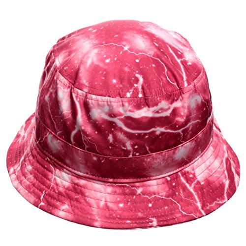 E-Flag Red Lightning Print Bucket Hat