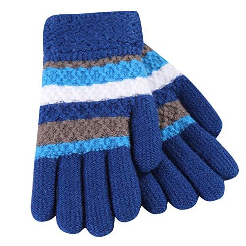 Moonuy Toddler Bébé épaissir filles Garçon rayé doigt chaud gants mitaines  tricotées Gants Hiver Enfant Tricote 056191a87995