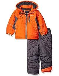 London Fog Toddler Boys' 2-Piece Snow Pant and Jacket Snowsuit, Orange, 4T