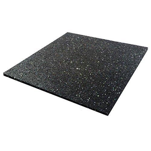 Invero&Reg; - Tappetino in Gomma per Lavatrice, asciugatrice, lavastoviglie o Altri elettrodomestici, Anti-Rumore e Anti-Vibrazioni, Universale, 600 x 600 mm