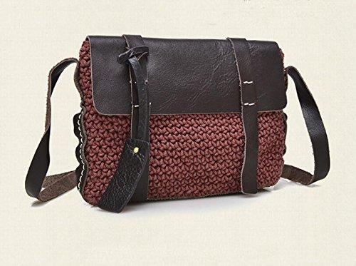 DJB/Leder Damen Tasche Große Kapazität weiblich baodan Leder Schulter Handtasche Weinrot