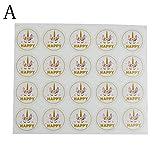 MONLAIEYLIU 3 Bögen Einhorn Siegel-Aufkleber Geschenk-Verpackung Aufkleber Etikett für Geschenke Kekse Beutel Verpackung Verpackung Verpackung Aufkleber Typ A