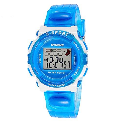 Orologi bimbo/Primarie impermeabile luminosi orologi/Sport orologio digitale-B