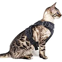 Eagloo Geschirr für Katzen Katzengeschirr Kleine Katze Katzengarnitur Ausbruchsicher Welpengeschirr Soft Kaninchengarnitur Katzenweste Verstellbar Schutz Kitten Hunde Chihuahua Cat Harness Schwarz XS