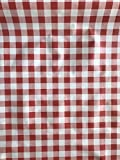 LaVelaHOME Tischdecke Meterware h140 weiß rot kariert
