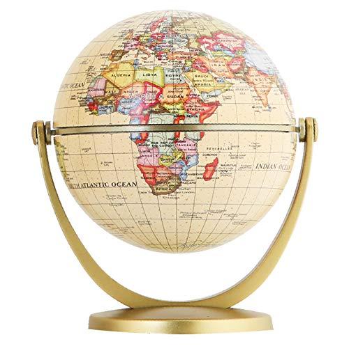 EXERZ Mini Antiker Globus - in Englischer Sprache (Durchmesser 10 CM) (10cm Antiker)