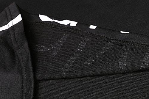 Befied Sport Jumpsuit Damen Sport Pullover Set Beiläufig 2 Stück High Waist Oberteil Kurze Hose Schwarz Schwarz (ohne Kapuze)
