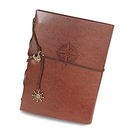 Album Hand Scrapbook Album de bricolage Vintage PU Cuir Album photo en cuir Couple Album (Gift Box Galleria)