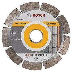 BOSCH Diamanttrennscheibe Standard für Universal, 125 x 22,23 x 1,6 x 10 mm, 1-er Pack, 2608602192