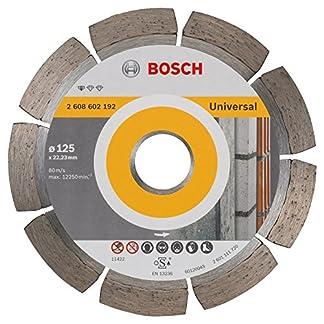 Bosch 2 608 602 192 – Disco tronzador de diamante universal (125 x 22,23 x 1,6 x 10 mm)