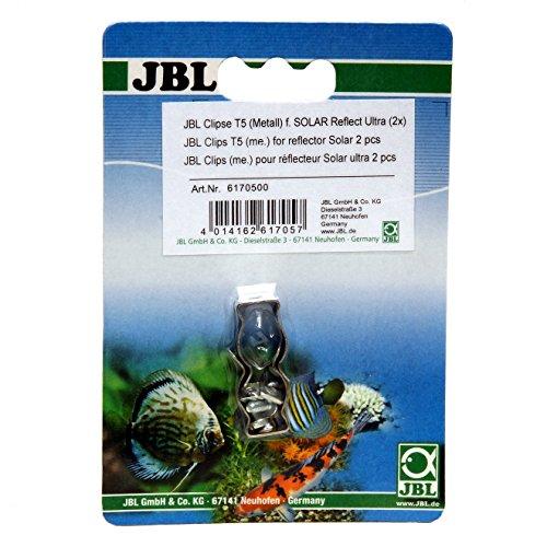 JBL 61705 Metallhalterung für Leuchtstoffröhren, Clip Set 2 Stück Solar Reflect, T5 Juwel-clip
