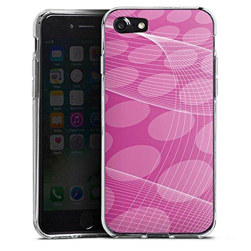 Apple iPhone X Silikon Hülle Case Schutzhülle Pink Muster Punkte Silikon Case transparent