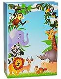 Unbekannt Einsteckalbum -  Zootiere & Giraffe  - Gebunden zum Einstecken - groß für bis zu 200 Bilder - 10x15 - Fotoalbum / Fotobuch / Photoalbum / Babyalbum / Album ..