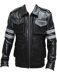 Resident Evil 6: Leon S Kennedy Veste en cuir de vache Noir