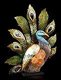 Pfauen Lampe - Metall Figur - Blech Pfau Deko-Leuchte